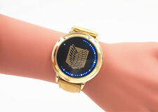 Anime Attack on Titan Led Light Touch Watch Golden New