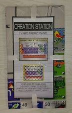 """1 Colorful 2001 OOP /""""US Map/"""" Cotton Quilting//Wallhanging Crafting Fabric Panel"""