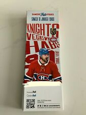 unused season hockey tickets Montreal Canadiens vs Vegas Golden Knights jan18