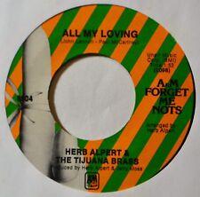 Herb Alpert & Tijuana Brass All My Loving Beatles Cover Hip Mod 45 EX+ Vinyl