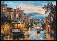 Cable Car Heaven - Chart Counted Cross Stitch Patterns Needlework DIY DMC