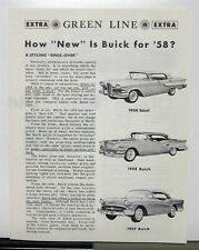 1958 Ford Edsel Compared To Buick By Green Line Extra Sales Brochure