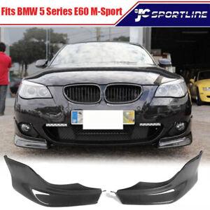 Fits BMW 5Series E60 525i 530i 550i Carbon Fiber Front Bumper Lip Splitters Fins