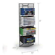 28 DVD Media Storage Tower BluRay Movies Stand Organizer CD Disk Game Wall Rack