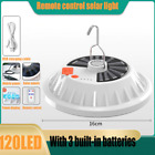 120 LED Outdoor Camping Lamp Ultra Bright Solar Lamp Remote Control Lantern Bulb
