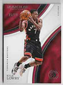 2016-17 Panini Immaculate Collection Base Kyle Lowry 25/99 Toronto Raptors #65