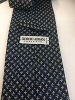Giorgio Armani , cravatta in seta blu