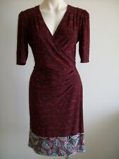LOVELY   DRESS BY LEONA EDMISTON,  SIZE  12,  EX CONDITION. WITH BORDER.