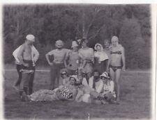 1970s BIG! Nude men Travesty dressed women gay interest old Russian Soviet photo