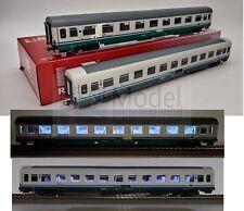 RIVAROSSI HR4286 - FS, Set 2 carrozze ILLUMINATE tipo UIC-Z1 rinnovate (progetto