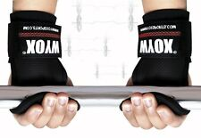 Weight Lifting Power Lifting Hand Hook Grip Palm Gel Pad Wrist Support Strap BLK