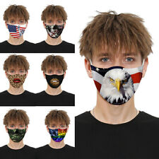 Fashion Funny Unisex Face Mask 3D Printed Face Cover Washable Reusable Kid Adult