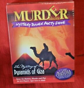 Murder Mystery Dinner Party Game Pyramids Of Giza Agatha Christie NEW/SEALED