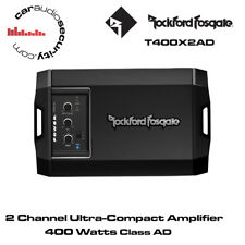 ROCKFORD FOSGATE POWER t400x2ad - 2 Channel Ultra-Compact CLASS AD AMPLIFICATORE