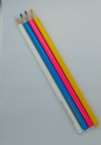 Quilters/Tailors Chalk Pencils White,  Blue , Pink & Yellow