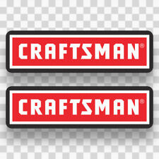 2x CRAFTSMAN Sticker Decals Vinyl Logo Equipment Tools...