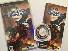 SONY PSP PORTABLE GAME WARHAMMER 40'000 SQUAD COMMAND COMPLETE TESTED & GWO