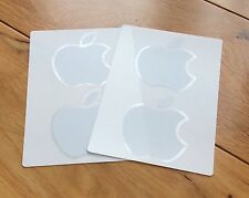4 x Official Genuine White Apple Logo Stickers - iPad Air Mini Mac MacBook