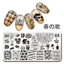 1Pc Rectangle Stamping Plate Cinema Moive Time Manicure Nail Art Plate L043