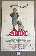 CAROL BURNETT & AILEEN QUINN Signed ANNIE Original 1982 One Sheet POSTER PSA/DNA