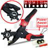 "10"" Power Assist Revolving Leather Hole Punch Belt Eyelet Plastic Puncher Plier"