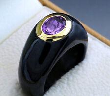 Amethyst Jade Ring in 14kt/585er Gelbgold Wert 650 Euro Neu