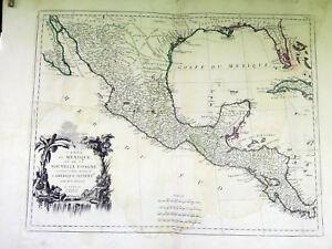 Antique Map 1779 Carte du Mexique et de la Nouvelle Espagna Mexico/Cuba/Florida