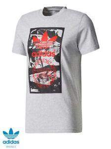 Adidas originals men's tongue label marble t shirt small S 36/38 Heather grey