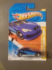 Hot Wheels 2011 NEW MODELS HYUNDAI GENESIS COUPE 1:64 BLUE MEGA RARE