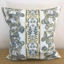 """18"""" (45cm)  BUTTERFLIES and GOLDEN STRIPES Cushion Cover.  Made Australia."""