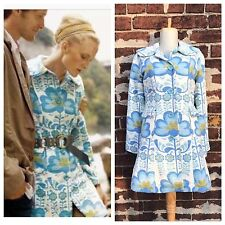 Anthropologie 2 Rare Elevenses Retro Floral Tapestry Windmill Coat Jacket 2006
