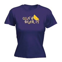 Womens Funny T Shirt - Gin And Bear It - Birthday Joke tee Gift Novelty T-SHIRT