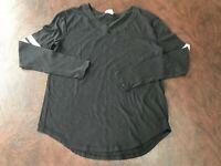 Women's Size XS Victoria Secret's PINK Shirt Long Sleeve Baseball  Black