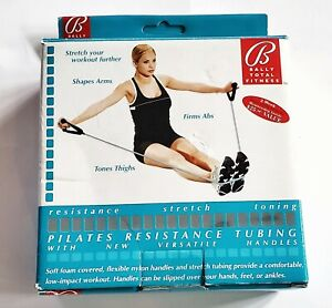 Bally's Total Fitness Pilates  Resistance Tubing with handles NIB