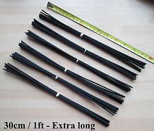 54 EXTRA LONG BLACK Rattan Reed Fragrance Oil Diffuser Replacement Refill Sticks