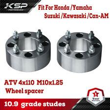 "2Pcs 2"" inch Wheel Spacers 4X110 10X1.25 For Yamaha Rhino Kawasaki Honda Can-Am"