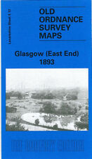 OLD ORDNANCE SURVEY MAP GLASGOW EAST END 1893