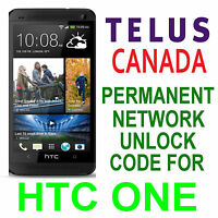 HTC PERMANENT NETWORK UNLOCKING PIN/CODE  FOR TELUS  HTC ONE