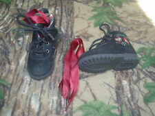 Toddler Girls Black Suede Hiking Shoes Boots Size 5