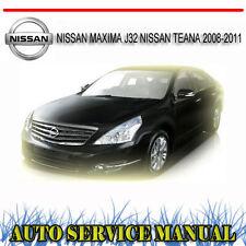 NISSAN MAXIMA J32 2008-2011 WORKSHOP SERVICE REPAIR MANUAL ~ DVD