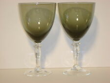 CELEBRITY GLASS SMOKE AND CLEAR WATER GOBLETS CEC1   7""