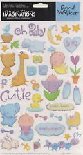 BABY BUBBLES 3-D EPOXY (41) STICKERS scrapbooking BOTTLES duck LAMB