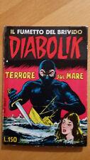 DIABOLIK prima serie n. 7 Terrore sul mare 1963 Sodip  ORIGINALE