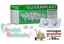 CUTANPLAST x24 SPUGNA GELATINA EMOSTATICA DENTALE STERILE RIASSORBIBILE 10x10mm