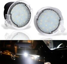 White LED Side Under Mirror Puddle Light Lamp For Ford Explorer Fusion Edge F150