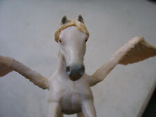"""Rare Papo 2007 Signed Dinosaur Winged Horse Figurine 9"""" Across Wings 4"""" Tall"""