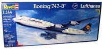 REVELL 1:144 KIT AEREO DI LINEA BOEING 747-8 LUFTHANSA LUNGHEZZA 52,5  ART 04275