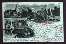 103825 AK Mondschein Litho Stendal 1898