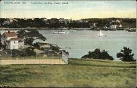 Peaks Island ME Trefethens Landing TUCK c1910 Postcard