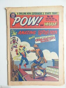 Pow! and Wham! comic No 65 - 13th April  1968 Spider-man Fantastic Four  VG